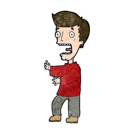 cartoon terrified man Vector