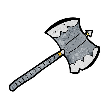 sided: cartoon double sided axe Illustration