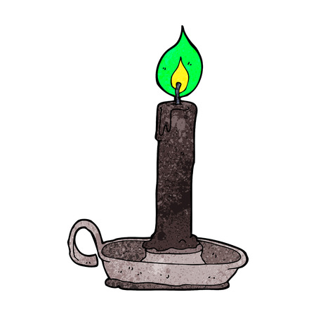 cartoon spooky black candle Vector
