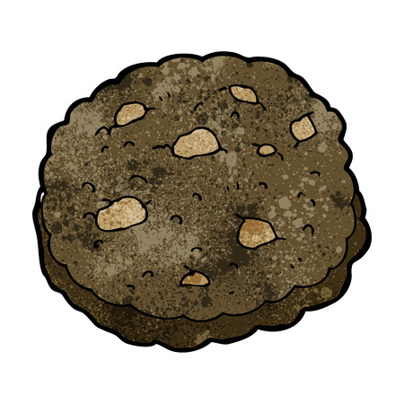 chocolate chip:  chocolate chip cookie cartoon Illustration