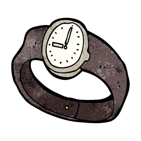 orologio da polso: vigilanza del fumetto da polso Vettoriali