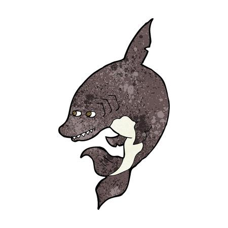 tiburon caricatura: tibur�n de divertidos dibujos animados