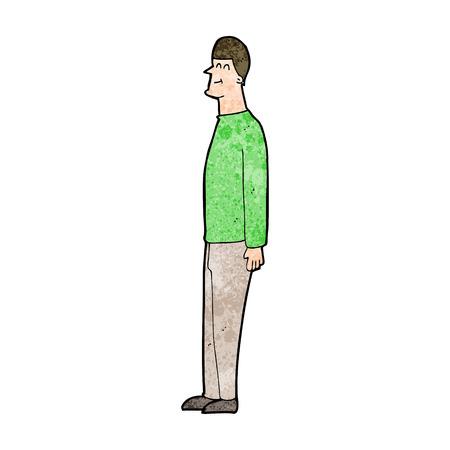 tall man: cartoon tall man Illustration