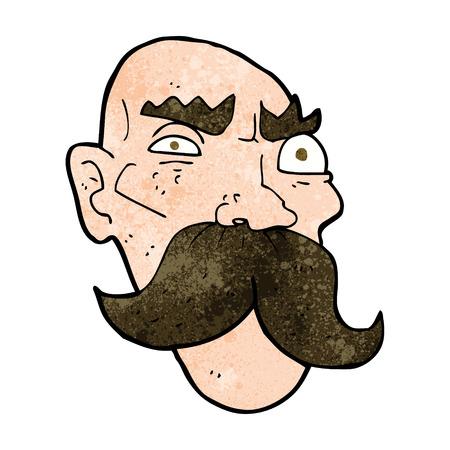 cartoon angry old man Vector