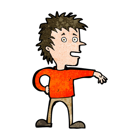 joking: cartoon man making dismissive gesture Illustration