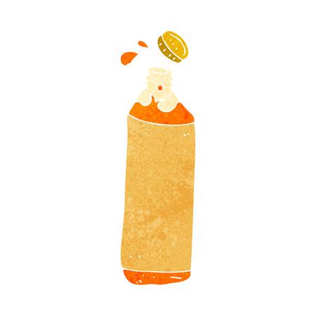 juice bottle: cartoon juice bottle