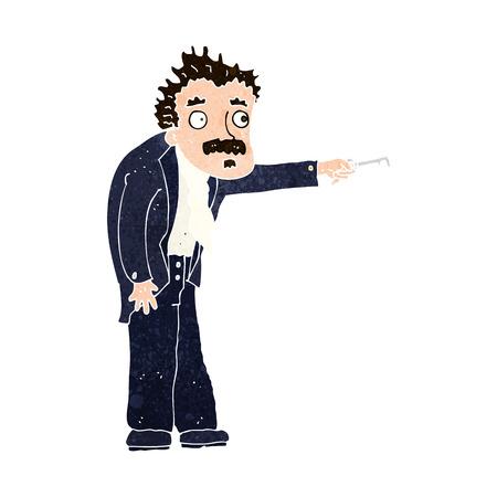 tremante: cartone animato uomo tremante di sblocco chiave