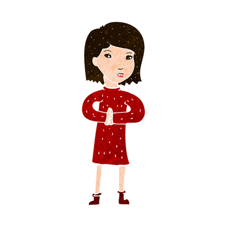 calm woman: cartoon calm woman