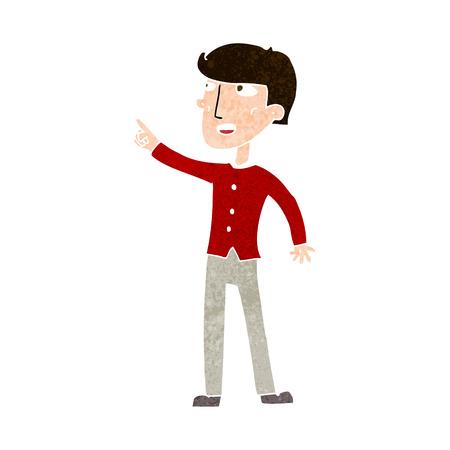 man pointing: cartoon man pointing the way