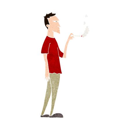 smoker: cartoon annoyed smoker Illustration