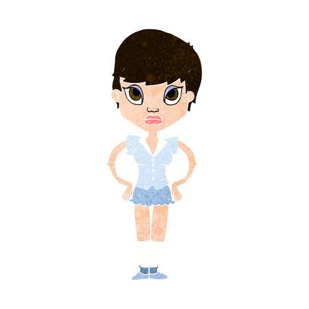 annoyed girl: cartoon annoyed girl