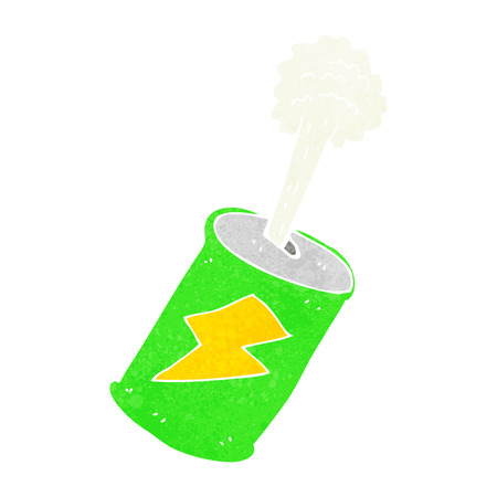 cartoon fizzing soda can Vector