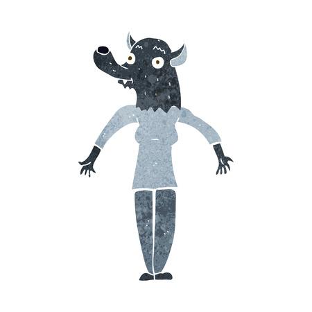 cartoon werewolf woman Vector