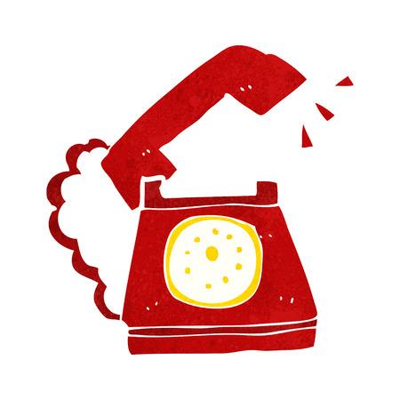 telephone cartoon: cartoon ringing telephone