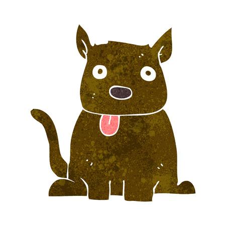 sticking out the tongue: caricatura, perro, sacar la lengua