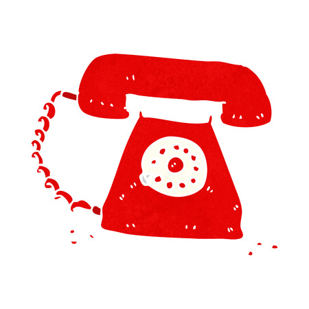 telephone cartoon: cartoon retro telephone Illustration