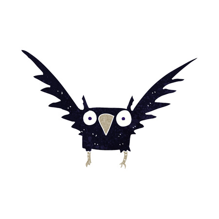 cartoon spooky bird Vector