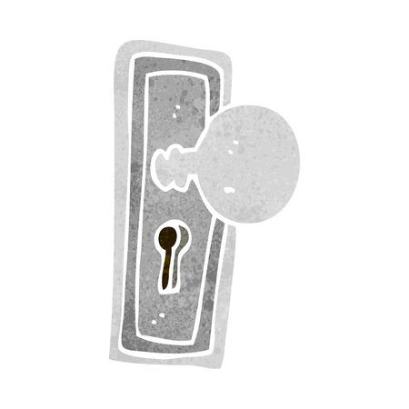 cartoon deurknop Stock Illustratie