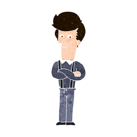 annoyed: cartoon annoyed man Illustration