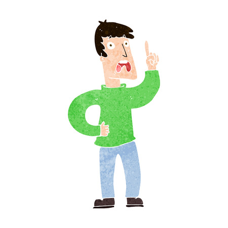 complaint: cartoon man with complaint Illustration