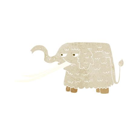 mammoth: cartoon woolly mammoth Illustration
