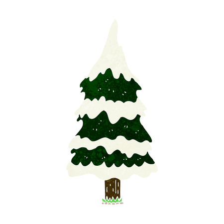 kârlı: cartoon snowy tree