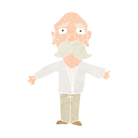disappointed': cartoon disappointed old man Illustration