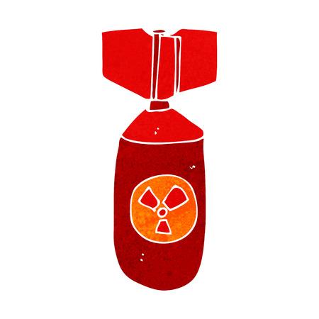 nuclear bomb: cartoon nuclear bomb