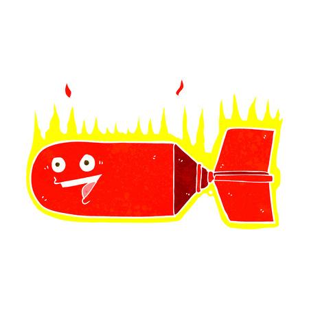 cartoon falling bomb Vector