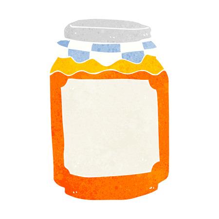 marmalade: cartoon jar of marmalade