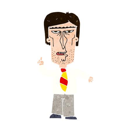 reprimanding: cartoon grumpy boss