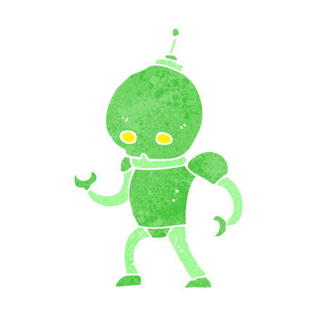 cartoon alien: cartoon robot alien�gena
