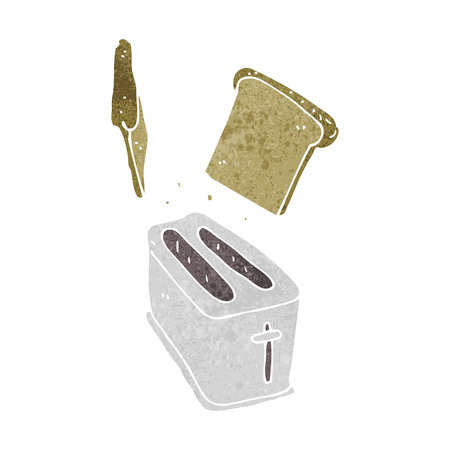 spitting: cartoon toaster spitting out bread Illustration