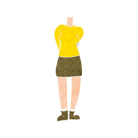 cuerpo femenino: cuerpo femenino de dibujos animados Vectores
