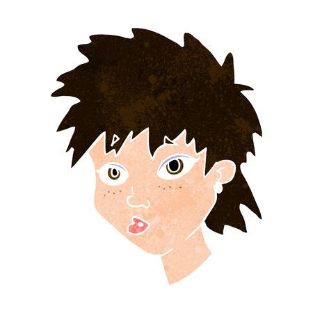 meraklı: karikatür meraklı kız Çizim