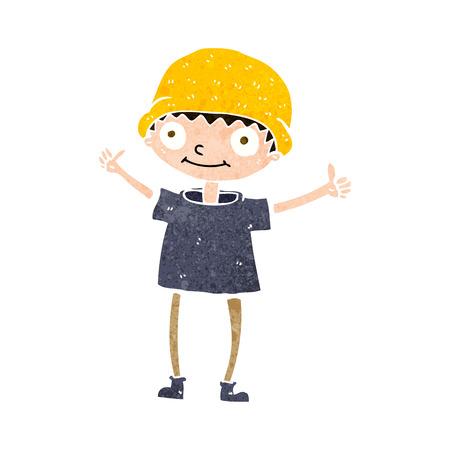 attitude boy: cartoon boy with positive attitude