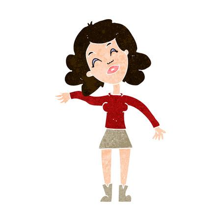 joking: cartoon woman only joking Illustration