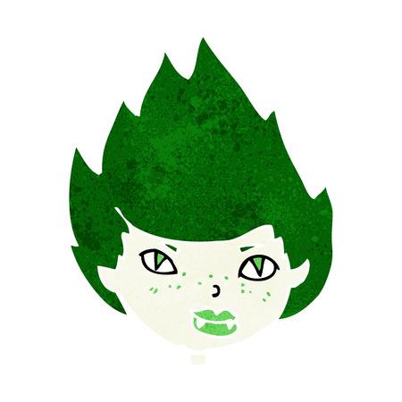 cartoon vampire head Illustration
