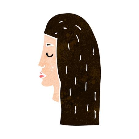 perfil de mujer rostro: femenina de dibujos animados perfil de la cara Vectores