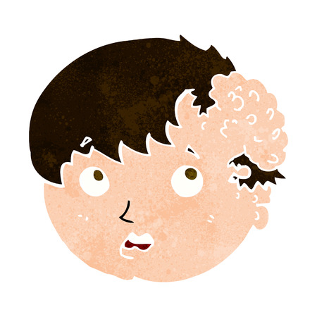 tumor growth: cartoon boy with ugly growth on head Illustration