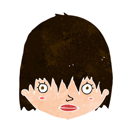 cartoon staring woman Vector