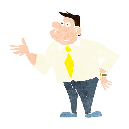 asking question: cartoon businessman asking question
