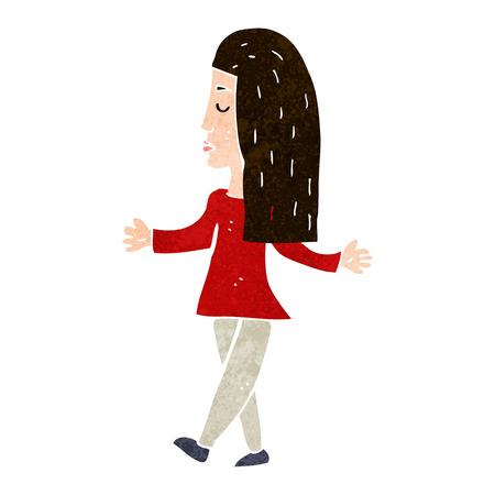 unconcerned: Historieta de la mujer encogi�ndose de hombros