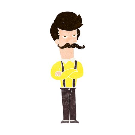 v�tements pli�s: homme de bande dessin�e avec la moustache Illustration