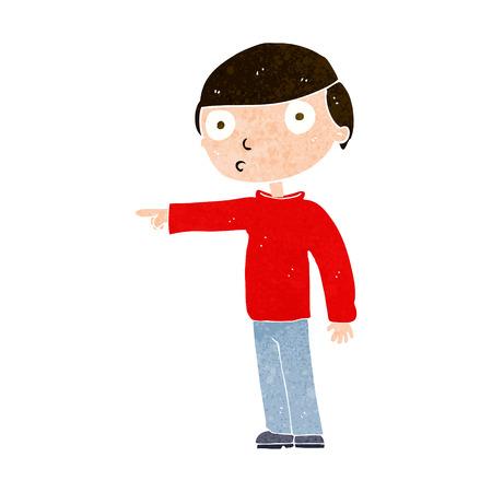 man pointing: cartoon man pointing Illustration