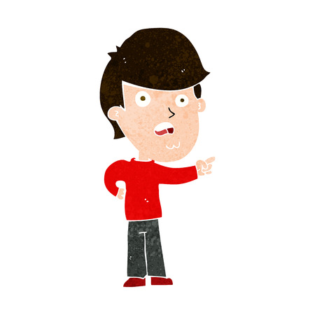 shocked man: cartoon shocked man pointing