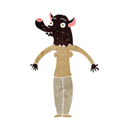 cartoon friendly werewolf woman Vector