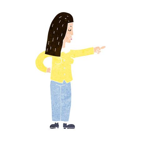 accuser: dessin anim� femme pointage