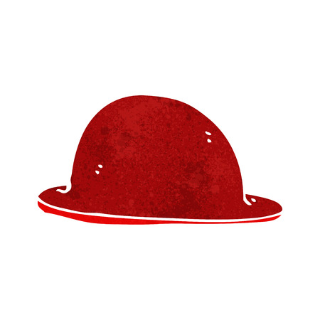 bowler hat: cartoon red bowler hat