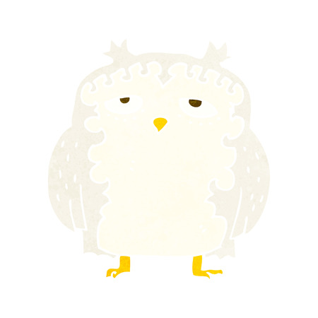 wise old owl: cartoon wise old owl